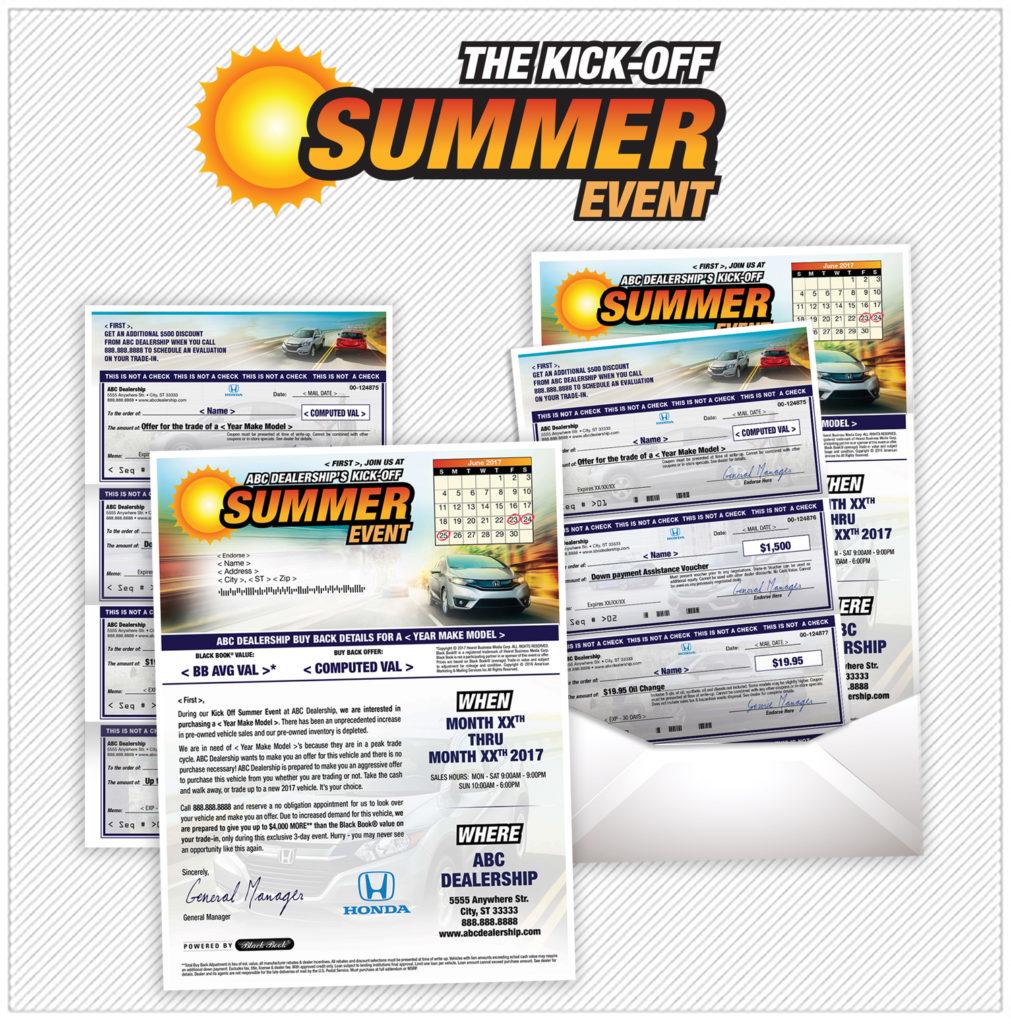 Summer Kick Off check flyer