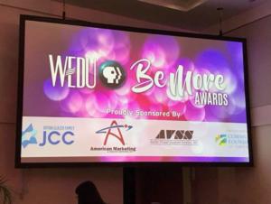 WEDU Be More Awards Screen